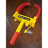 Wheel Lock Clamp Parking Tire Boot Claw Car Auto Trailer Heavy Duty Anti Theft