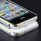 Plus Premium Quality Dual Tone Circular Arc Metal Bumper Case Cover For Apple Iphone 5G / 5S - Silver