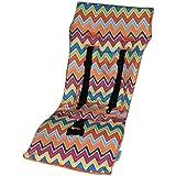 Tivoli Couture Nu Comfort Memory Foam Stroller Pad And Seat Liner, Zig Zag Orange