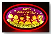 Peanuts Charlie Brown & Friends Happy Halloween Lighted Sign