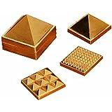 "1"" 91 Pyramids In Total, Wish Pyramid, Metal Pyramid, Vastu Pyramid, Set Of Three Pyramid, Ashtdhatu Vastu Pyramid"