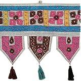 Exclusive Toran Gray Cotton Floral Patch Work Toran Décor By Rajrang