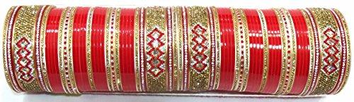 Shingar Jewellery Punjabi/suhaag Bridal Chura In Red Colour