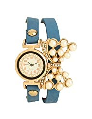 COSMIC BLUE BRACELET WATCH FOR WOMEN WITH DIAMOND STUDDED ON DIAL