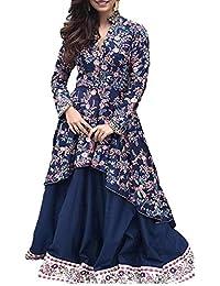 Muta Fashions Plain Beautiful Salwar Suit Sets ( Semi Stitched_Free Size_Blue )