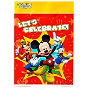 American Greetings Mickey Mouse Clubhouse Treat Bags, Pack Of 8, Party Supplies