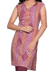 Missprint Women Cotton Cambric Sleeveless Kurti