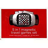 5 In 1 Magnetic Travel Games Set 4 Game Boards