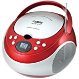 Naxa Portable Cd Player With Am/Fm Radio (Red) Product Category: Boom Boxes/Boom Boxes