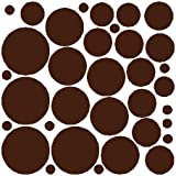 EYE CANDY SIGNS 34 BROWN POLKA DOTS. . . WALL STICKERS ART DECALS DECOR