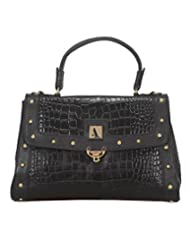 Adamis Beautifully Designed HandBag (Black_B658)