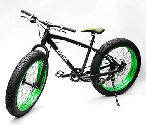 Fatso Bikes Fat Bike ビーチクルーザー自転車 Fatbike ファットバイク Black x Green 26インチ