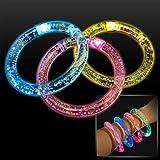 Color Changing Led Bubble Bangle Bracelets (Set Of 12)