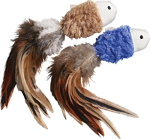 Naturals Crinkle Fish Catnip Toy, Colors Vary, 2-Pack