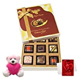 Chocholik Luxury Chocolates - True And Rich Combination Of Chocolates With Teddy And Love Card