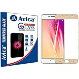 AVICA™ Full Edge To Edge Cover GOLD Curved Tempered Glass Screen Protector For Vivo V5