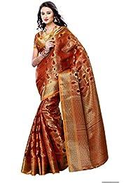 Mimosa Women'S Art Kanchipuram Silk Saree With Blouse,Color:Maroon(3190-164-MRN)
