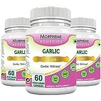 Morpheme Garlic 500mg Extract 60 Veg Caps - 3 Bottles