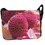 Front Panel Canvas Flowers Printed Messenger Style Bag For Laptops, Notebook Computer, Fit To Most . Design No.LTB... - B00SPICGJW
