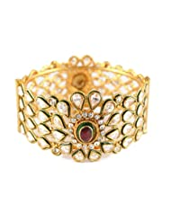 Bijoux Gold Plated CZ Double Tone Bangles For Women (Bn RJ 0384)