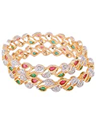 Bharat Sales Gold Plated Multi Alloy Bangles For Women - B00YPAU6B4