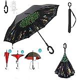 Tian Yi Love Travel : TIANYI Umbrella Sun Windproof Anti-UV Travel Protection Umbrella C Shape Slip-Proof Handle Portable, Lightweight, Easy Carrying+Umbrella Set