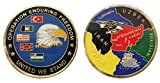 Operation Enduring Freedom Afghanistan Challenge Collectible Coin Logo Metal Lucky Poker Chips & Gift