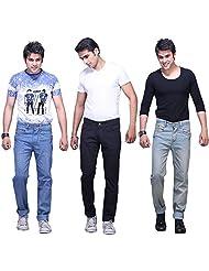 X-CROSS Men's Slim Fit Jeans Combo (Pack Of 3) - B0132W2E3S