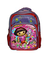 Wise Guys Cartoon 3D Embossed Print School Bag For Kids - Pink