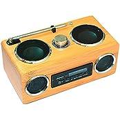 Farsler Handmade Portable ECO-Friendly Hi-Fi Full Bamboo Multifunctional Mini Card Speakers Radio MP3 Player