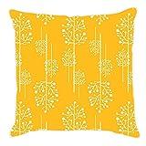 Craftghar Floral Abstraction Cushion Cover (40 Cm X 40 Cm) - B01736DDG6