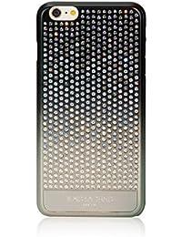 Bling-My-Thing Case For IPhone 6 Plus - Retail Packaging - Metallic Gradient Black/Crystal Paradise Shine