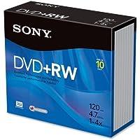 Sony 10 X Dvd Rw 4.7 Gb 120Min 4X Slim Jewel Case Product Category Storage Storage Media