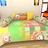 AashiyanaSajona 100% Cotton 6 Piece Single DIwan Set With 2 Bloster Covers And 3 Cushion Covers