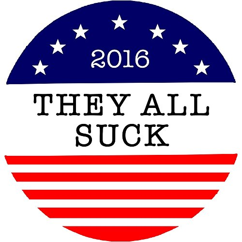 Trump and Clinton Halloween Costumes - Choose Edgy or Funny - They All Suck Decal | They All Suck Bumper Sticker | 4