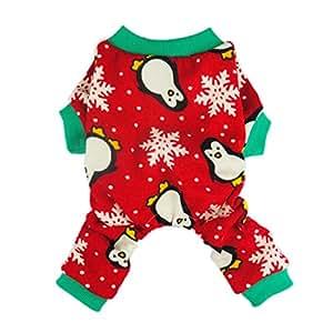 Amazon.com : Fitwarm Cute Penguin Xmas Pet Clothes for Dog