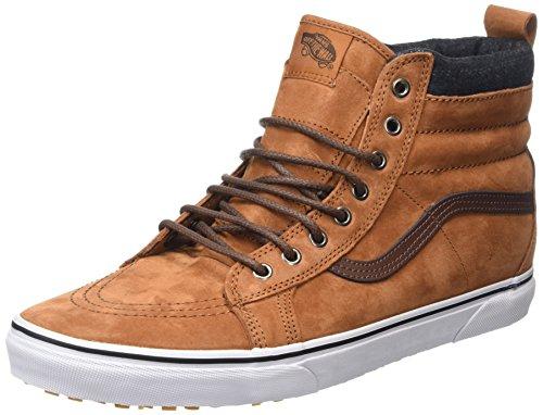 Vans Unisex-Erwachsene SK8-Hi Hohe Sneakers, Braun (Mte Glazed Ginger/Plaid), 46 EU