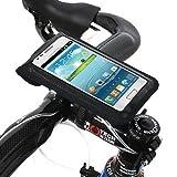 BM WORKS Slim3 Bike Mount Medium Size Black - Secure Bicycle Phone Case Holder With Plug Holes For Earplugs For...