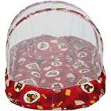 Amardeep Baby Mattress With Mosquito Net Bear Heart RED XL Size 90*55*6 Cms