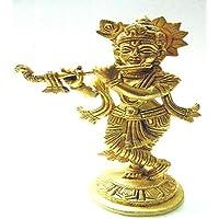 Divine God's Lord Shree Krishna Brass Idol 7.5 Inches