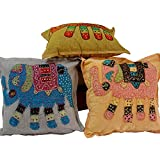 Ufc Mart Hand Embroidered Designer Cushion Cover Set, Color: Multi-Color, #Ufc00434