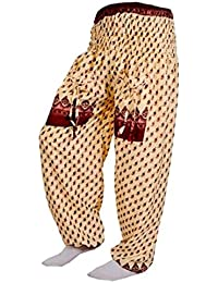 Women's Cotton Harem Pants Afghani Trousers - B06XYSXSHW