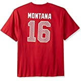 NFL San Francisco 49ers Montana Men's Big & Tall Hall Of Fame Tee, X-Large/Tall, Cardinal/Red