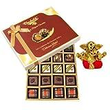 Chocholik Belgium Chocolates - Lovely 20pc Mix Assorted Chocolate Box With Small Ganesha Idol - Gifts For Diwali