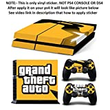 Al Pacino Grand Theft Auto Theme Cover Stickers For Playstation 4 Console & Controllers With Gta 5 Keychain