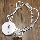 Generic 1M E27/E26 Ceiling Rose Chain Pendant Chandelier Light Lamp Bulb Holder Socket-white