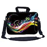 Meffort Inc 13 13.3 Inch Neoprene Laptop Bag Sleeve With Extra Side Pocket Soft Carrying Handle & Removable Shoulder...