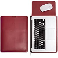 WALNEW Sleek Leather 11 MacBook Air 11-Inch Protective Soft Sleeve Case Cover Bag With Safe Interior And Exterior...