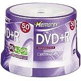 Memorex : Disc DVD+R 4.7GB 50/spindle 16X -:- Sold As 2 Packs Of - 50 - / - Total Of 100 Each