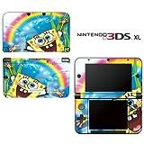 Spongebob Squarepants Rainbow Decorative Video Game Decal Cover Skin Protector for Nintendo 3DS XL